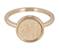 Charmins steel ring sanded circle gold R381