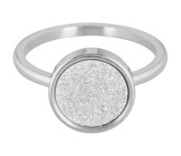 Charmins steel ring sanded circle shiny steel R380