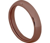 Charmins Complement ring choco plated OHR44