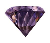 Melano Brilliant zetting zirkonia purple