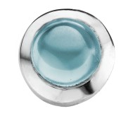 Enchanted round cabochon aqua