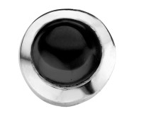 Enchanted round cabochon black