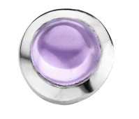 Enchanted round cabochon lavender