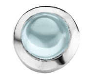 Enchanted round cabochon light blue
