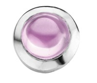 Enchanted round cabochon pink