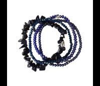 Biba armbanden set 31 purple goldstone