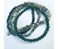 Biba armbanden set 3 groen tinten