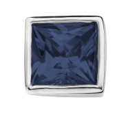 Enchanted square zirkonia dark blue