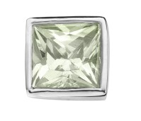 Enchanted square zirkonia light green