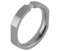 Melano Friends ring stainless steel CZ