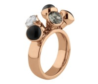 Melano Twisted ring Tess rose gold