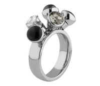 Melano Twisted ring Tess stainless steel