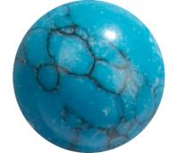Melano Cateye semi precious stone balletje turquoise