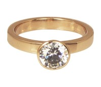 Charmins round diamond rose gold XL72