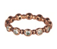 Charmins turn around diamond rose gold XL76