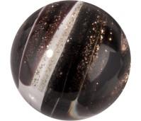 Melano Cateye stone zirkonia glitter black